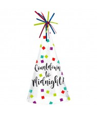 """""""Countdown to Midnight"""" Plastic Cone Hat, ..."""