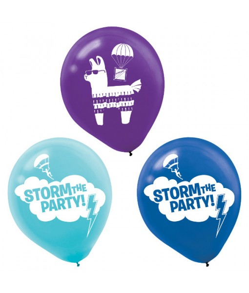 """Battle Royal"" Assorted Latex Party Balloons, 6 Ct."