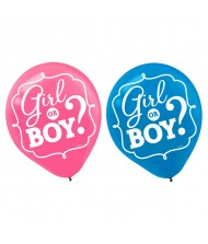 """Girl or Boy"" Latex Balloons"