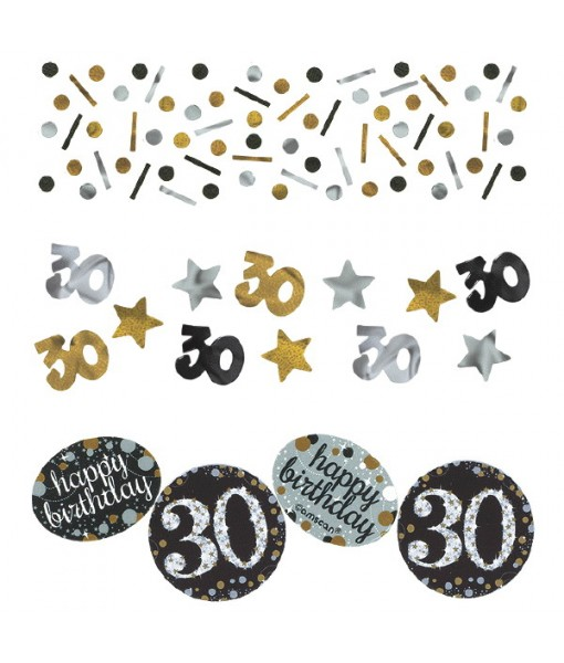 "Sparkling Celebration ""30"" Confetti, Birthday"