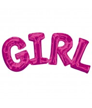 "Air-Filled Word Balloon ""Girl"" Pink