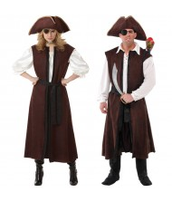 Adult Long Brown Pirate Vest
