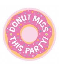 """""""Donut Party"""" Pink Postcard Invitations, 4.25"""" ..."""