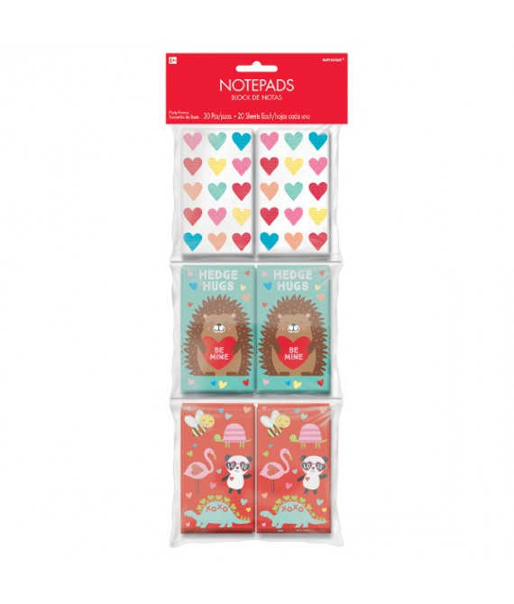 """""""Love Is Colorful"""", Valentine Assorted Notepad Party Favors, 30 Ct."""