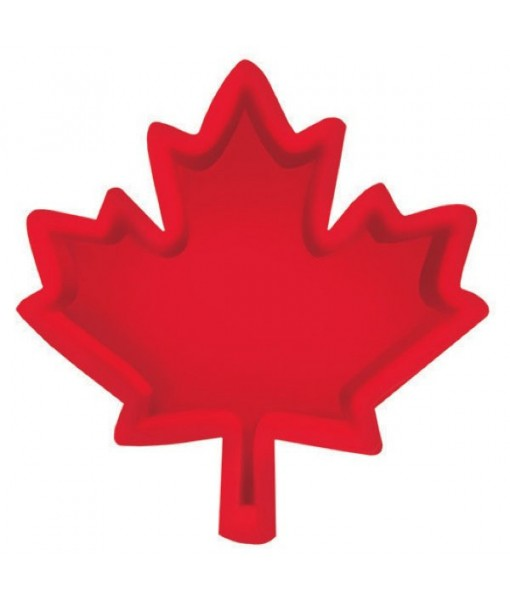 """""""Canada Day"""" Maple Leaf Snack Party Tray, 12"""""""