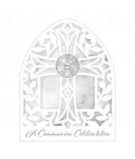 Communion White and Silver Party Invitations, ...