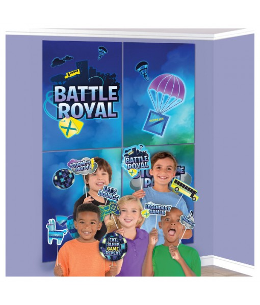 """Battle Royal"" Party Scene Setters w/ Photo Props, 16 Pc."