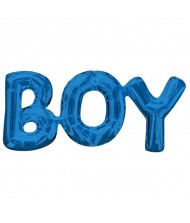 "Air-Filled Word Balloon""Boy"" Blue