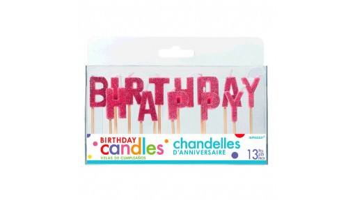Happy Birthday Glitter Pick Candles|Party Supply