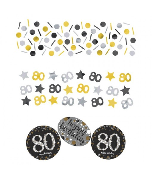 "Sparkling Celebration ""80"" Confetti, Birthday"