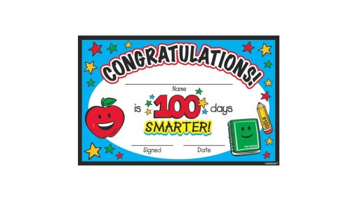 """""""100th Day Of School"""" Party Certificate, ..."""