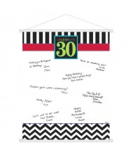 30th Celebration Sign-In Scroll, Party Favor