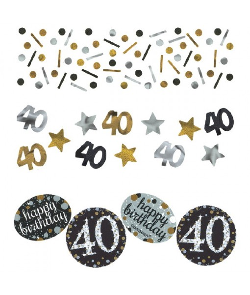 "Sparkling Celebration ""40"" Confetti, Birthday"