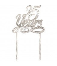 """""""25 Years"""" Cake Topper, 5.25"""" x ..."""
