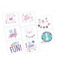 """Llama Fun"" Assorted Party Favor Tattoos, ..."