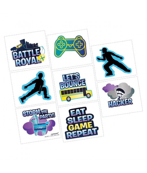 """Battle Royal"" Assorted Party Favor Tattoos, 8 Ct."