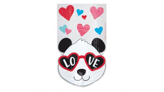 """""""Love Is Colorful"""" Valentine's Day, Die-Cut Cello Bags, Large, 20 Ct."""