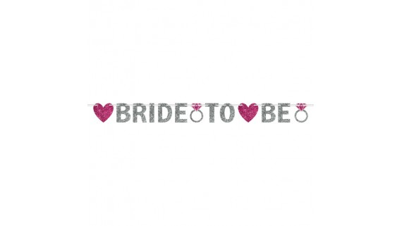 """""""Bride to Be"""" Glitter Banner"""