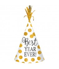 """""""Best Year Ever"""" Cone Hat, White, ..."""