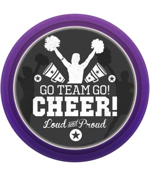 """Spirit Squad Collection Round, Party Plates, 7"""", 8 Ct."""