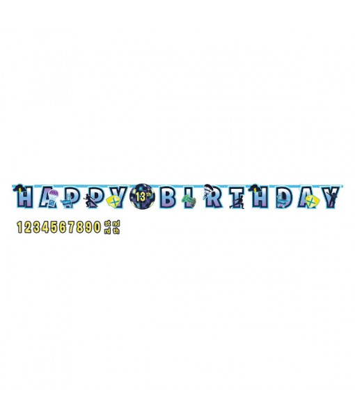 Battle Royal' Jumbo Add-An-Age Letter Party Banner Kit, 25 Pc.