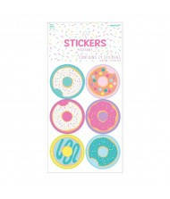 """Donut Party"" Assorted Round Sticker Favors, ..."