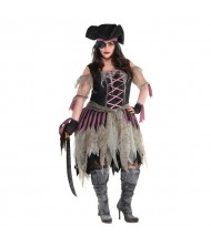 Adult Haunted Pirate Wench Costume - ...