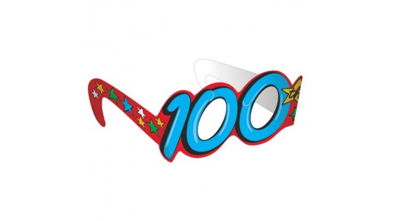 """""""100th Day Of School"""" Party Glasses, 3.25"""" x 15.5"""", 12 Ct."""