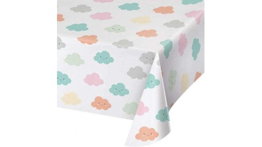 Clouds Baby Shower Plastic Tablecover - ...