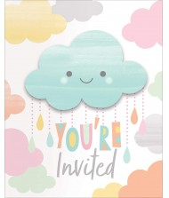 Clouds Baby Shower Foldover Invitation Set ...