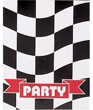 """Black and White Checkered """"Party"""" Invitations ..."""